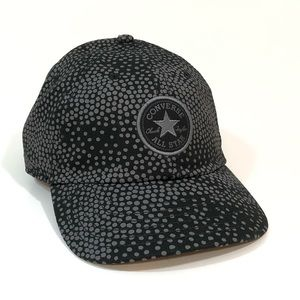 Converse All Star Baseball Hat Cap Black Dot